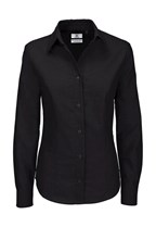 Ladies` Oxford Long Sleeve Shirt - SWO03