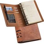 Ringband notitieboekje DIN A6 met een PU omslag