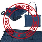 Picknickdeken in een draagtas