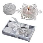 111698727535 - Bougies de Noël décorées de forme de flocons de ne