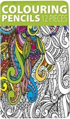 Set van 12 kleurpotloden in blik