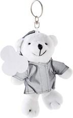 Pluche beer met reflecterend jasje