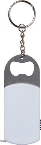 Aluminium flesopener met sleutelhanger