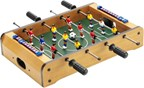 Tafelvoetbal spel met standregistratie en ballen