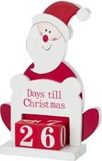 Houten standaard Kerstman decoratie