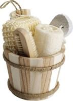 Badset 5-delig, 2x spons, nagelborstel en puimsteen