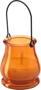 Citronella kaars in glazen pot