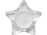 Waxinelichthouder in de vorm van een ster