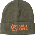 Acryl beanie met brede omslagband