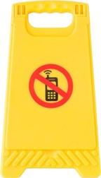 Kunststof waarschuwingsbord met spiegel