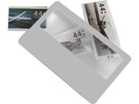 Ultra dun plastic vergrootglas, model 'creditcard'