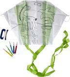 Polyester vlieger met kleurplaat