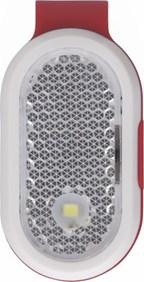 ABS reflector lampje met clip