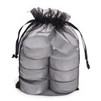 Organza Tealight Bag 8 Black
