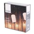 SENZA Solar LED Lantern Oval White