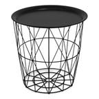 Multifunctional Iron BasketSidetable Black