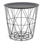 Multifunctional Iron BasketSidetable Grey