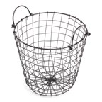Iron Basket Black with Iron Handles