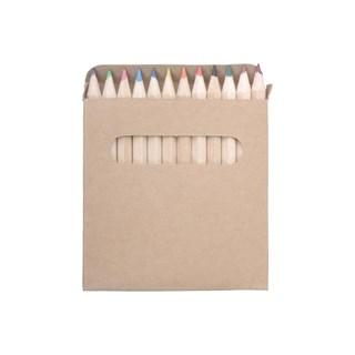 12 kleurpotloden in kartonnen doosje