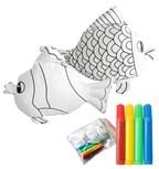 3d kleurset vis met 4 stiften