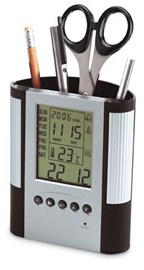 Wekker met thermometer REFLECTS-MOSTOLES