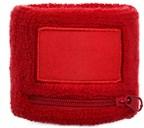 Polsbandje Met Rits 6cm Met Label Rood acc Rood