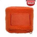 Polsbandje Met Rits 6cm Met Label Oranje acc Oranj