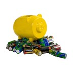 Waste batteries container,PePe,yellow