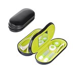 Eyeglasses and contact lens case,black