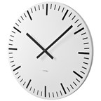Wall clock,White Station,d60,white