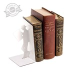 Bookend,The Reader,white,metal