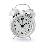Alarm clock,Twin Bell,chrome,1xAA,incl