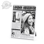 Frame,London Observer,acrilic